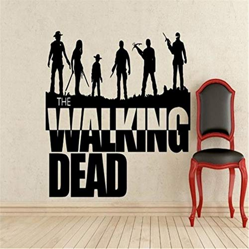 Lkfqjd Die Walking Dead Zombie Movie Wandkunst Aufkleber Home Decor Wandvinyl Aufkleber Mural Size57 * 65 Cm