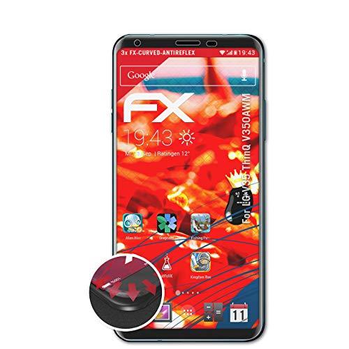 atFolix Schutzfolie passend für LG V35 ThinQ V350AWM Folie, entspiegelnde & Flexible FX Bildschirmschutzfolie (3X)