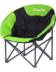Kingcamp–Silla de camping & trekking satélite–76* 50* 50cm–Estructura en acero y textil impermeable–carga hasta 120kg–Bolsa de transporte incluido–color verde