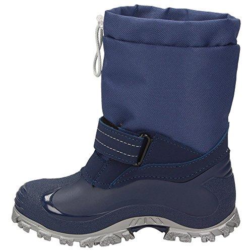 BOWS® -ROBIN- Jungen Mädchen Schuhe Kinder Schnee Stiefel Winter Boots gefüttert wasserdicht wasserabweisend Phthalat-Frei Marineblau