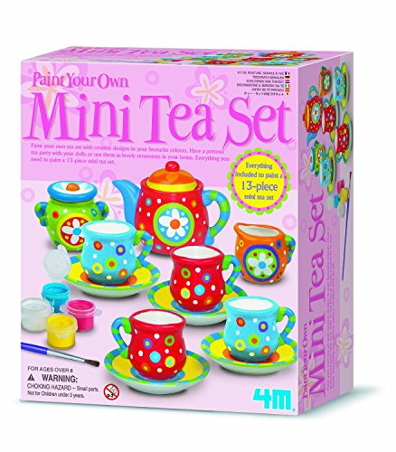 Design Your Own Tea Set Painting - Make Your Own Set - Best Selling Creative - Arts & Crafts Toys & Games Present Gift Ideal For Christmas Xmas Stocking Fillers Age 8+ Girls Girl Children Child Kids