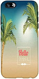 Snoogg Summer Vector Illustration With Palm Tree Designer Protective Back Cas...