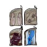 """Belle Vous sacchetti portascarpe da viaggio, viaggio scarpe Borsa Organizzatore 9.64""""x3.14""""x11.81""""coulisse morbido nylon scarpa sacchetti di Tote (Trasparenti) (4-Pack)"""