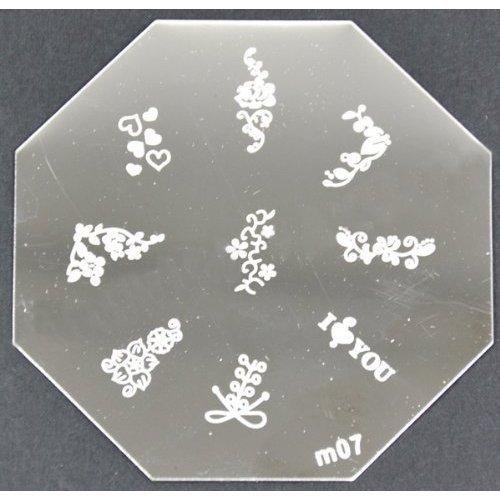 Nail Art emboutissage des tôles - M01 CODE : M07-plaque