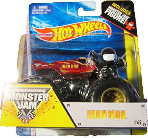 Hot wheels Monster Jam IRON MAN includes monster jam figure #69 off- road by Hot Wheels