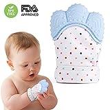 Mitaine de dentition de bébé en silicone, Gant de dentition de soulagement de la douleur auto-apaisant Gant de dentition de sécurité alimentaire sans BPA GRATUIT pour bébé et fille de 3-12 mois