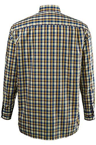 JP 1880 Homme Chemise à carreaux. Comfort Fit 698193 Grandes tailles Jaune