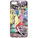 You Worth Own Cartoon Funny Little Mermaid Princesses Zombie Style Iphone 5,5s Case Cover(HD Image)-Black Best Protective Hard Plastic cover