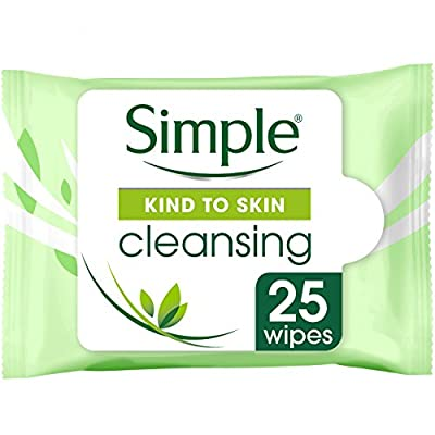 Simple Kind to Skin Cleansing Facial Wipes 25 Pieces (Pack of 6) from Unilever