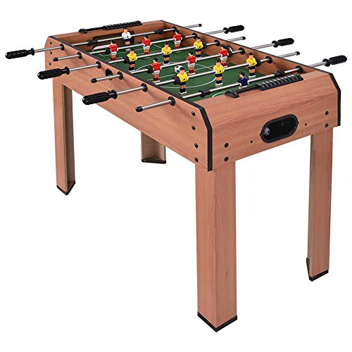 GYMAX 37'' Soccer Football Table Top Kids Family Foosball Game Toy Set Wooden Frame