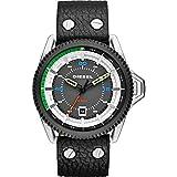 Diesel Herren-Armbanduhr Rollcage Analog Quarz Leder DZ1717