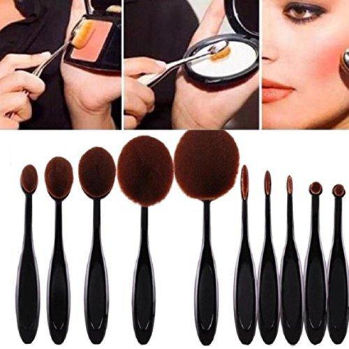 Fashion Base® Ensemble de pinceau de maquillage Kabuki Cosmetics Fond de teint Mélange Blush Eyeliner visage Brosse Poudre kit de brosse de maquillage