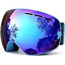 TUONROAD Gafas de esquí,Hombres Mujeres Snowboard Skate Gafas de esquí con Antiniebla Gafas,