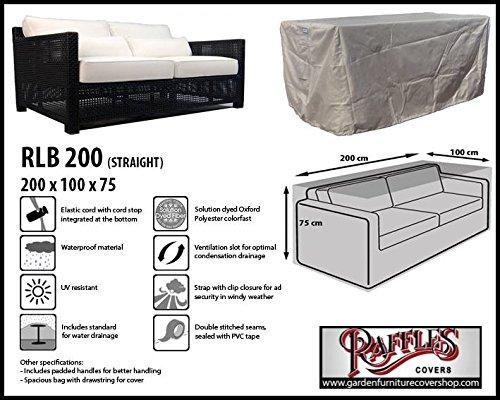 RLB200straight Hülle für Lounge Bank, Rattan Gartensofa oder Lounge Sofa, 2 - 3 Personen, passt am...