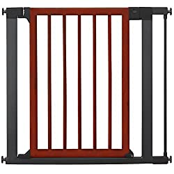 Munchkin Wood and Steel Designer Gate (Dark Wood/silver)
