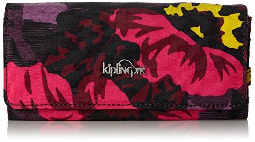 Kipling Brownie, Portafogli Donna, Multicolore (REF353 Rose Bloom), 19x10x3 cm