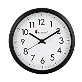 #4: Solimo 11-inch Wall Clock (Silent movement, Black Frame)