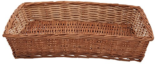 Aashi Enterprise Cane Basket items storage multipurpose serving baskets gifts roti basket(48 cm x 33 cm x 13 cm , Brown)