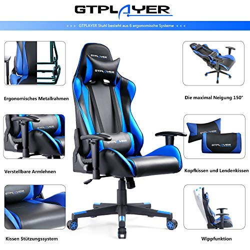 GTPLAYER Gaming Stuhl Racing Stuhl Bild 2*