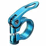 Ndier Morsetto a Rilascio Rapido, Morsetto Reggisella Pinze per Sellino di Bicicletta in Lega di Alluminio, 31.8mm Blu