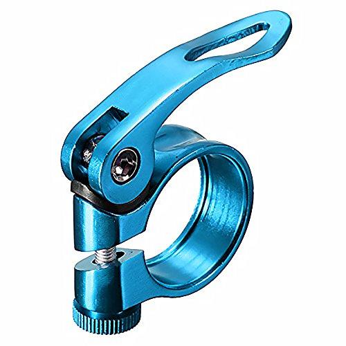 Ndier Abrazadera de Liberación Rápida, Abrazadera tija Alicates para Sillín de Bicicleta de Aleación de Aluminio, 31.8mm Azul