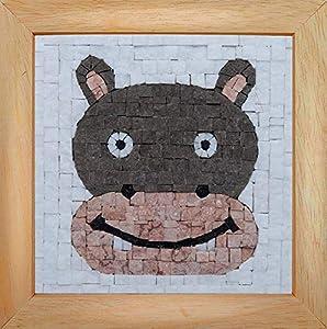 Trois petits points Mosaic Box Hippotamus Face-Geant, 6192459602660, Universal