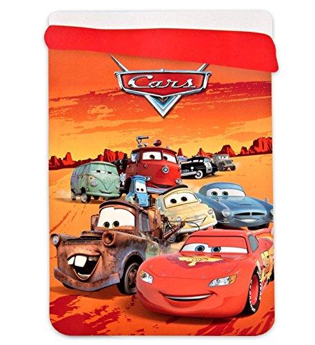 Jerry fabrics disney cars trapunta invernale coperta extra calda, poliestere, red, 260x180x3 cm