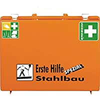 SÖHNGEN 360118 Erste-Hilfe-Koffer Stahlbau, Wandhalterung, orange, ASR A4.3/DIN 13157 aus Kunststoff preisvergleich bei billige-tabletten.eu