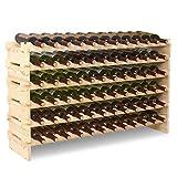 mecor Holz Weinregal 72 Flaschen Weinständer XL Flaschenregal 120 x 30 x 71
