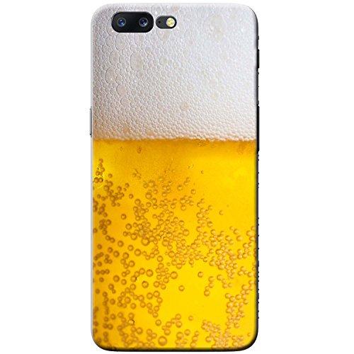 Nahaufnahme schaumiges Bier weiße Krone Hartschalenhülle Telefonhülle zum Aufstecken für OnePlus 5