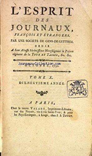 ESPRIT DES JOURNAUX (L') du 01/10/1790