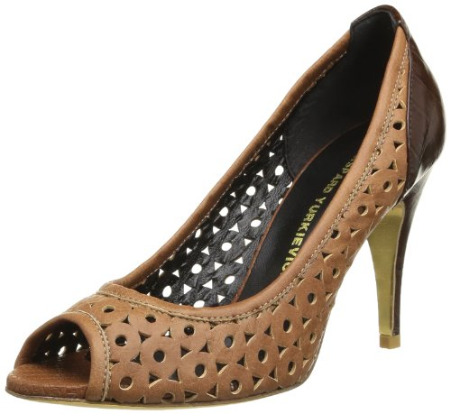Gaspard Yurkievich Open Toe Pump, Scarpe col tacco donna, Marron (Brown/Var3), 38.5