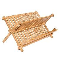 BirdRock Home Bamboo Folding Dish Rack Dish Drainer