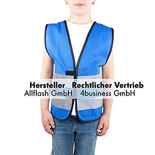 Allflash Sicherheitsweste blau Größe XS für Kinder von 3-6 Jahren