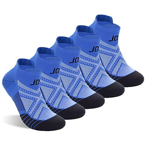 Super 60 Quarter Socken (Unbekannt J&Q Knöchelsocken, Kupfer, Unisex, sportlich, niedrig geschnitten, für Damen und Herren, Herren, Black/Blue-5 Pairs, Men 6-11 US, Women 7-12 US)