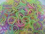 600 élastiques FLUORESCENTS et s-attaches multicolores en latex Twistz Bandz