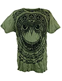Guru-Shop Sure T-Shirt Eule, Herren, Baumwolle, Bedrucktes Shirt Alternative d9c909c8e4