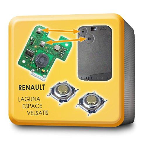 microtaster chiave tasto scheda da 2pezzi RENAULT LAGUNA Espace (MP01)