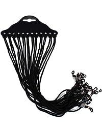 Dealglad® 12Pcs Nylon Gafas Soporte para Gafas, diseño de cordón Gafas de Lectura Correa para el Cuello retenedor Cuerda Lanyard Holder, Nailon, Negro, 62~65cm