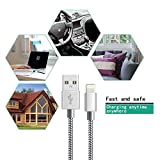 iPhone Charger Cable Lightning Cable Marktol (3FT-3Pack,Grey) Fast Sync Charger USB Cable Nylon Braided Cord for iPhone 8/X 7/7 Plus/6/6s/6 Plus/6s Plus,5c/5s/5/SE,iPad Pro/Air/mini,iPod and more (3ft Bild 2