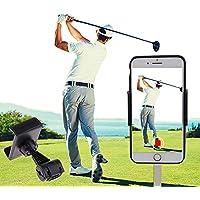 SIZIMA® Soporte de Móvil para Golf, Accesorios de Entrenamiento para grabación de Swing de Golf, Soporte Universal Clip Celular Manillar para Bicicleta Moto, Soporte Móvil en Coche, Giro de 360°