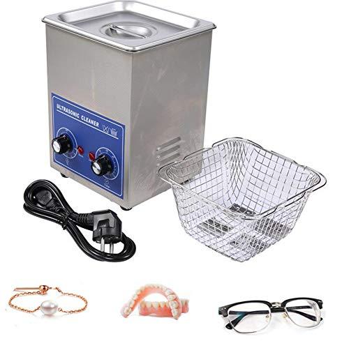 FengJ 2L Edelstahl Ultraschallreiniger, mit Waschkorb Regler Heizung 70W, Schmuckglasreiniger