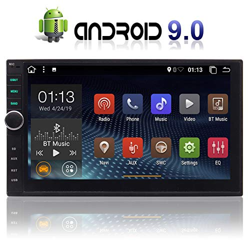 EINCAR 7 Zoll Android 9.0 OS Pie Car Video Player kapazitiver Touch Screen Auto Stereo Universal-Autoradio GPS-Navigation Unterstützung 4G WiFi Bluetooth-Funk Rückfahkameraeingangs Multi Color Butto