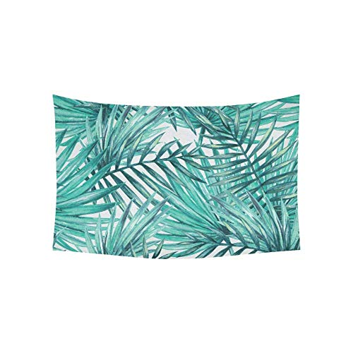 BAOQIN Tapiz Watercolor Tropical Palm Leaves Seamless