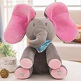 IU Desert Rose Artículos para el hogar Muñeco de Peluche de Elefante Gris, muñeco de