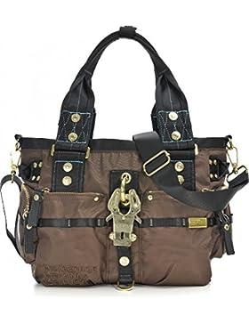 GEORGE GINA & LUCY, Damen Handtaschen, Schultertaschen, Umhängetaschen, Shopper, Braun, 39 x 24 x 12 cm (B x H...