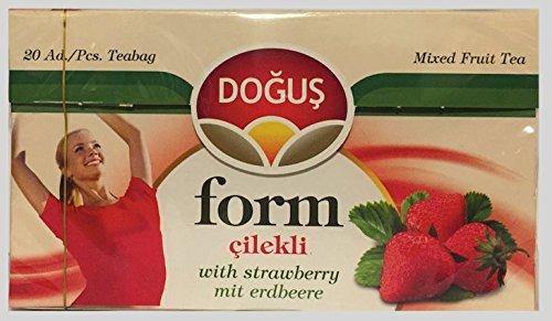 Dogus Erdbeere Form Gemischter Früchtetee - Cilekli Beuteltee - Mixed Fruit Tea -