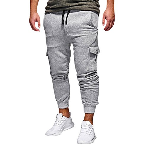 OSYARD-Pantalon Cargo Homme Longue Cordon Hommes Chino Travaile Jeans avec Poches Sport Pantalon