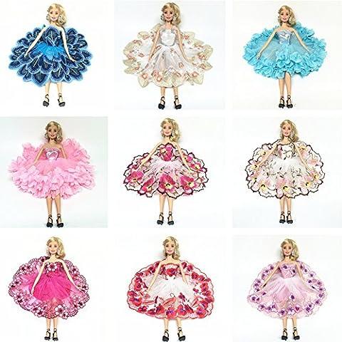 Zantec Puppe Modische Kleid Set Ballerina Rock mit Blumenstickerei für Barbie Puppe Spielzeug Stil zufällig