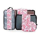 Veevan Cubos de Embalaje Valeroso para Viaje,4 Organizador con bolsa protectora.